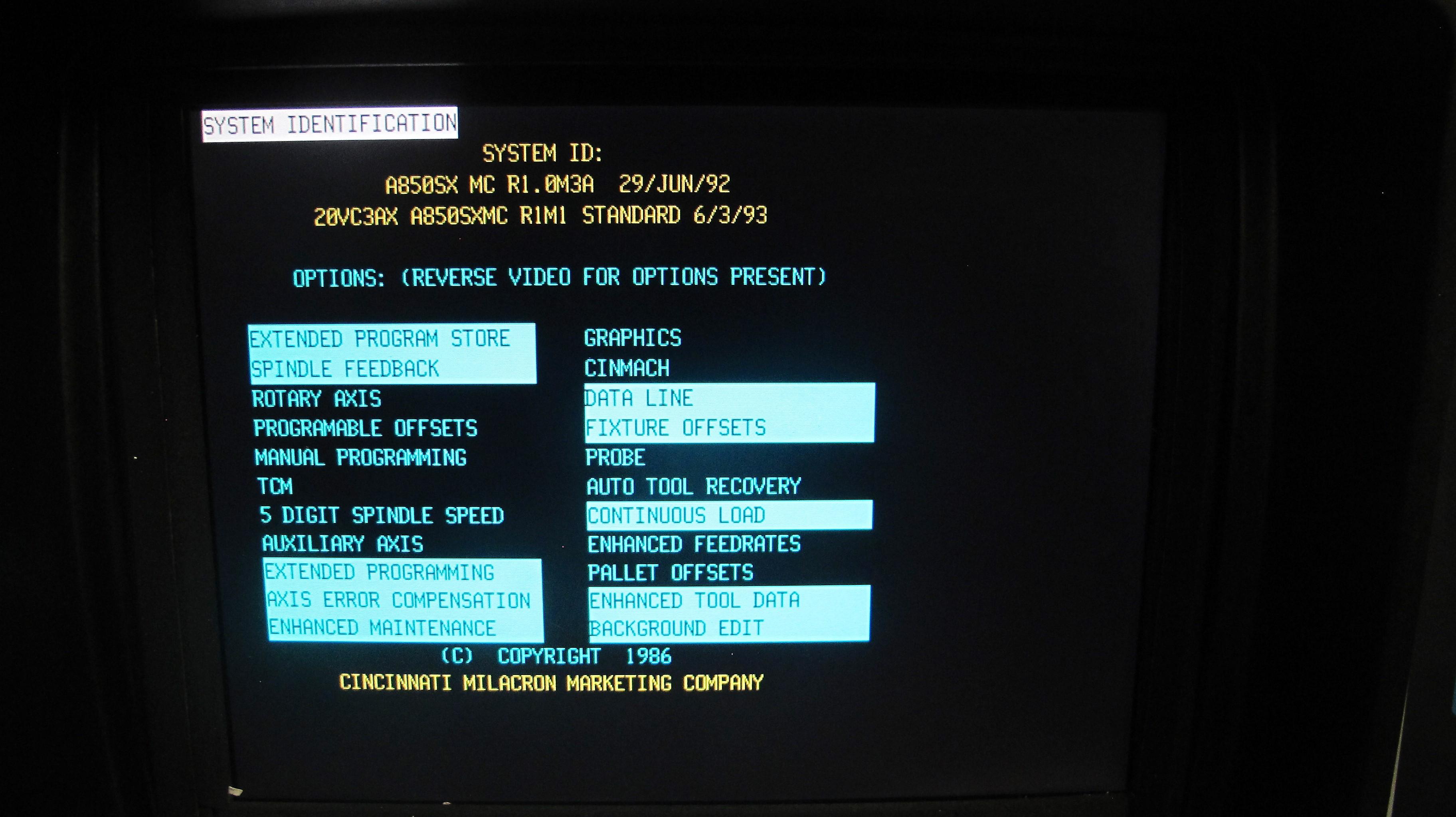 "CINCINNATI MILACRON20VC CNC VERTICAL MILLING MACHINING, 80"" x 30"" TABLE, ACRAMATIC 850SX CNC - Image 7 of 20"