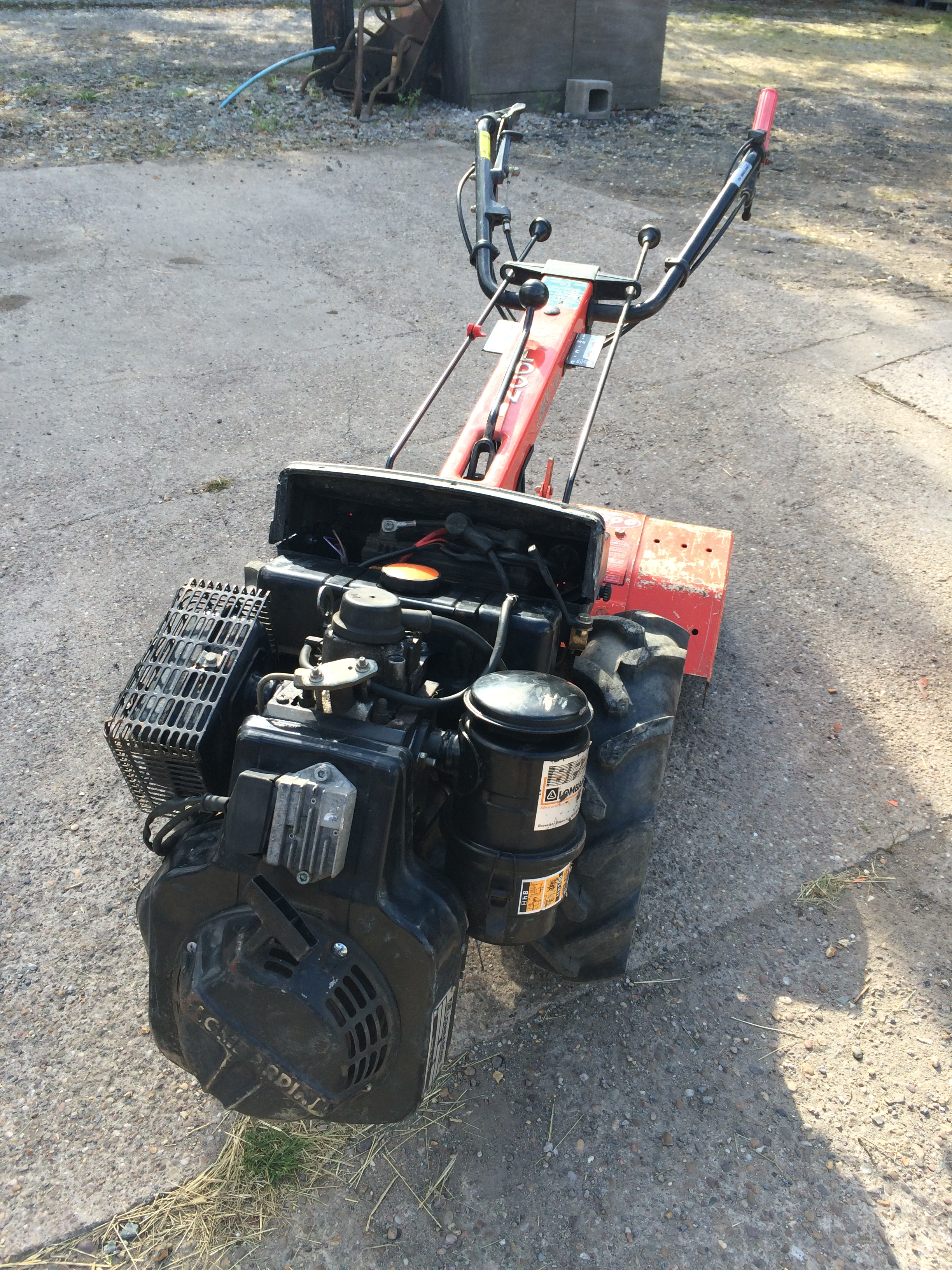 Goldoni diesel powered tool carrier with rotavator attachment with