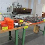 LOT OF SYSTEM R3 EDM BLOCKS, TRAYS, SPINDLES, SPEED CONTROLLER AND ELECTRODES