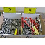 LOT OF 2 BOXES OF END MILLS AND REEMERS