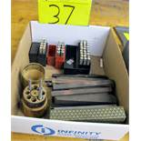 LOT OF NUMBER, LETTER AND PUNCH SETS W/NORTON ABRASIVES HARD ARKANSAS OIL STONE