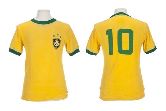 sports shoes a2ccd f90ab An Athleta brand Brazil national football team jersey game ...