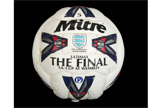 "super popular ce189 ee64d ... A Mitre Ultimax brand football, inscribed in black marker ""London ... MLS  Mitre Ultimax is official match ball of MLS 1996-2000 Football Balls  Database ..."
