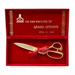 Lot 669 - PELÉ APRIL 21,1982, ATARI TAIWAN RIBBON-CUTTING SCISSORS WITH GAMES
