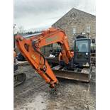 Doosan, DX85R-3 8.5 Ton Excavator Serial No. DHKCEAAVE6002296 Date of Manufacture: 2018 Rubber
