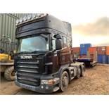Scania 6x2 tractor unit, R480 Topline, 800,000 recrded kilometres, Registration number D19 JGW