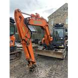 Doosan, DX85R-3 8.5 Ton Excavator Serial No. DHCKEAAVA6002265 Date of Manufacture: 2018 Rubber