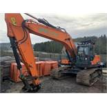 Doosan, DX225LC-6 22 Ton Excavator Serial No. DHCKEBBUKH0001593 Date of Manufacture: 2018 Piped with