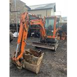 Doosan, DX302 Excavator 3 Ton Serial No. CEAAC-005332 Date of Manufacture: 2016 Piped for breaker,
