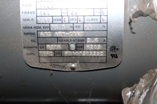 Lot 16 - NEW - Baldor Industrial Motor, 1hp/1150 rpm