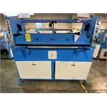 (2) Prensas de corte hidráulica plana, marca Dah Din Machine, Hydraulic Cutting Machine. Favor de in