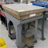 """24"""" x 36"""" Calibrated Granite Surface Plate w/ Stand"""