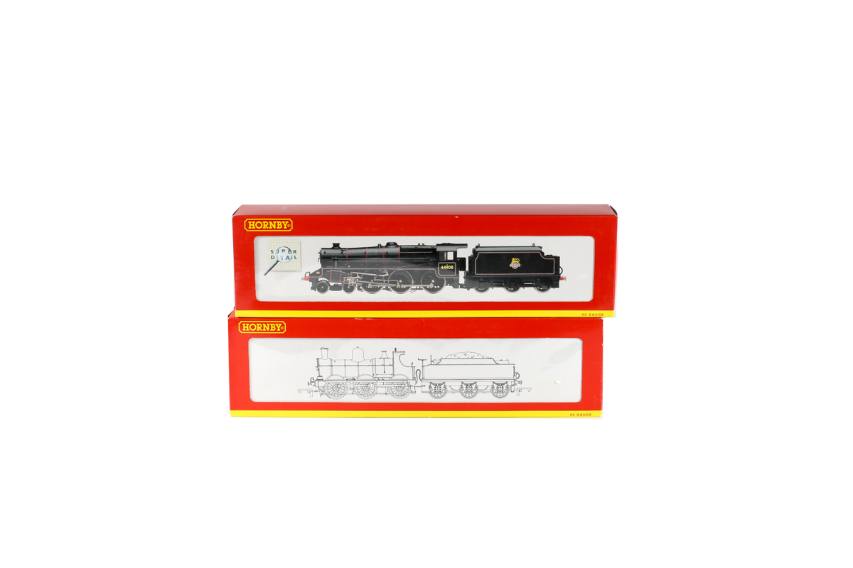 Lot 55 - 2 Hornby Railways steam locomotives. A BR class 5MT 4-6-0 tender locomotive RN44908 R2359 in lined