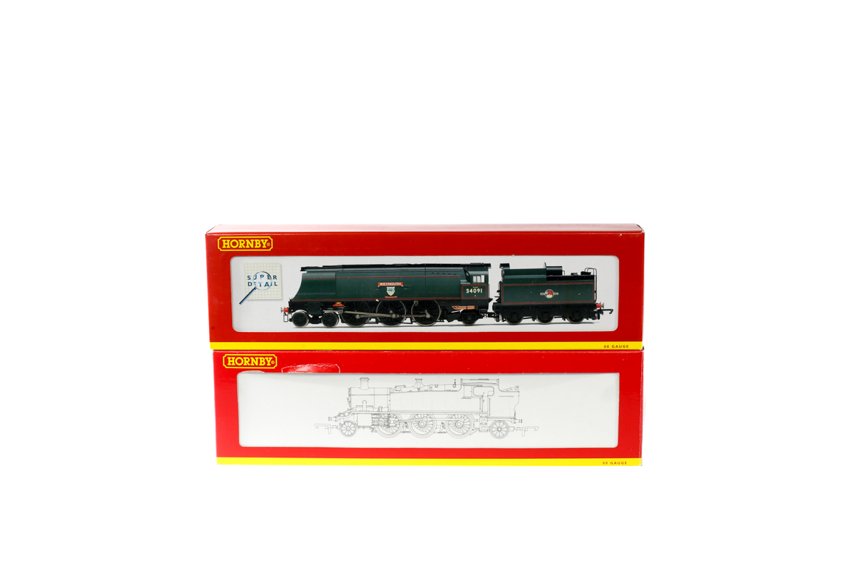 Lot 49 - 2 Hornby Railways steam locomotives. A BR West Country class 4-6-2 tender locomotive 'Weymouth'