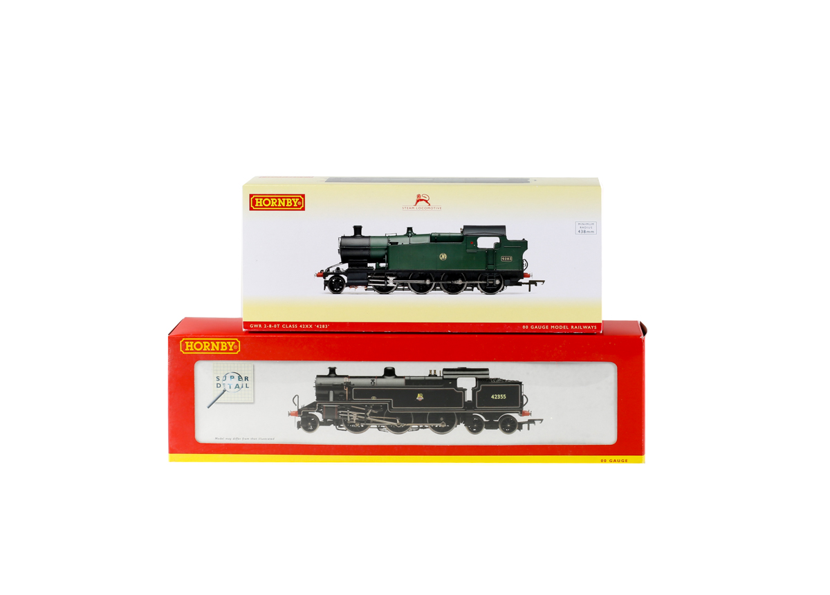 Lot 60 - 2 Hornby Railways tank locomotives. A BR class 4P Fowler 2-6-4 T RN42355 R2223 in lined black