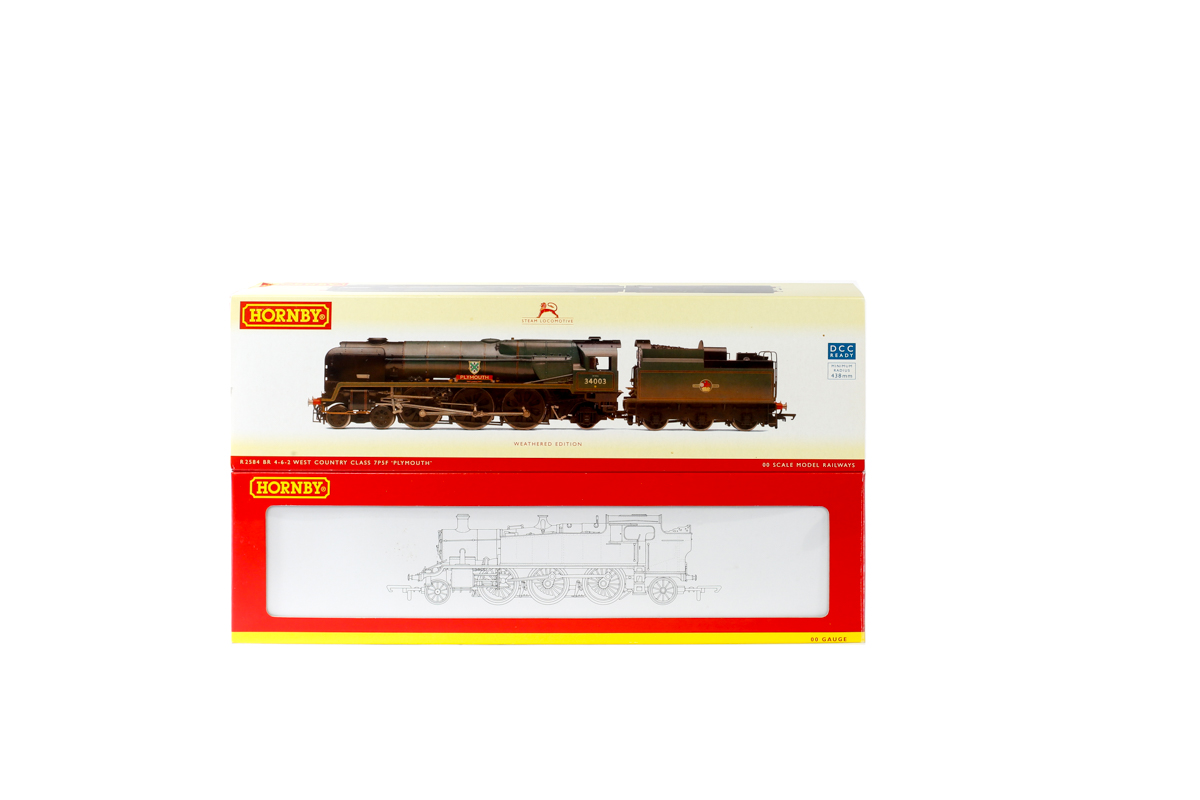 Lot 50 - 2 Hornby Railways steam locomotives. A BR rebuilt West Country class 4-6-2 tender locomotive '