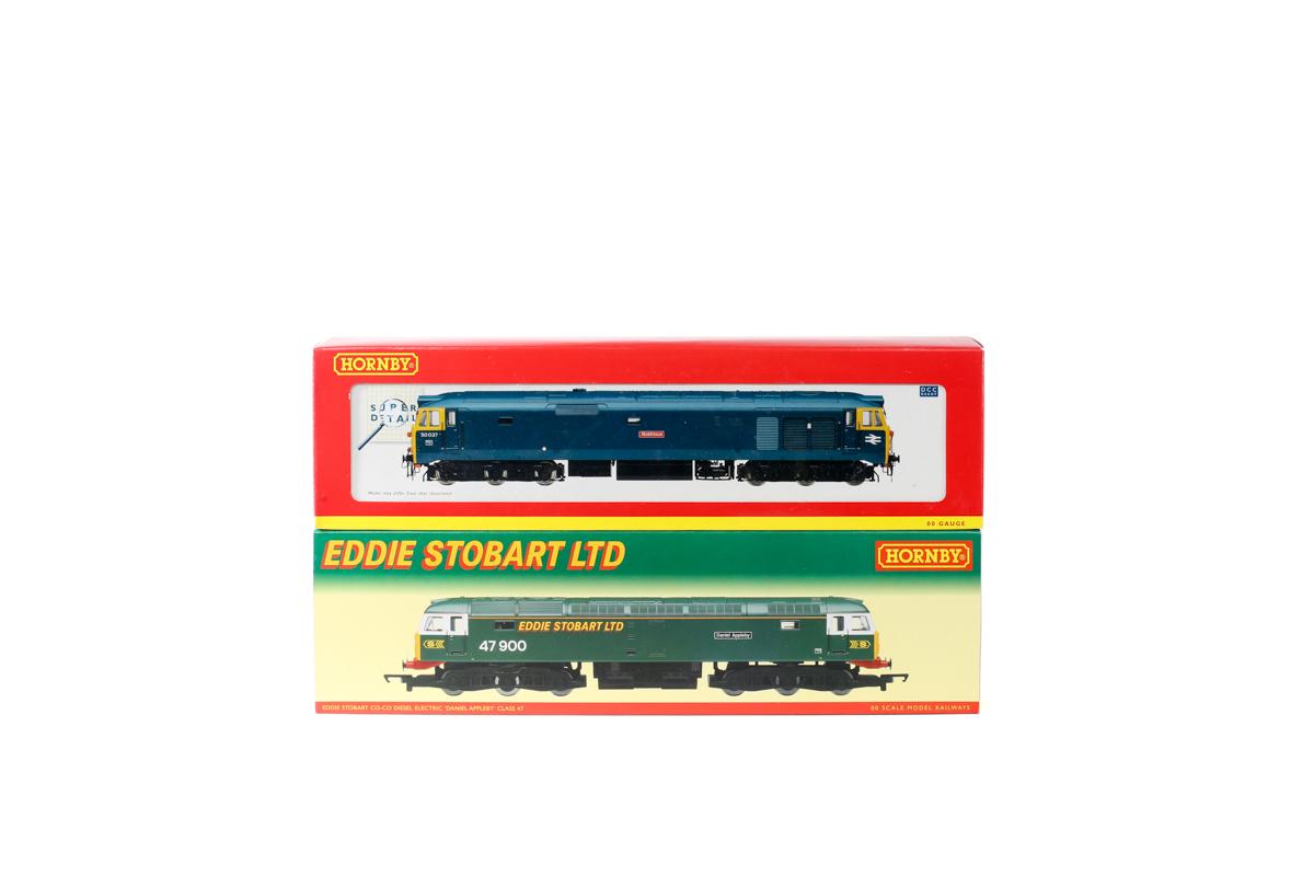 Lot 43 - 2 Hornby Railways Co-Co Diesel Electric locomotives. An Eddie Stobart Ltd class 47 'Daniel Appleby'