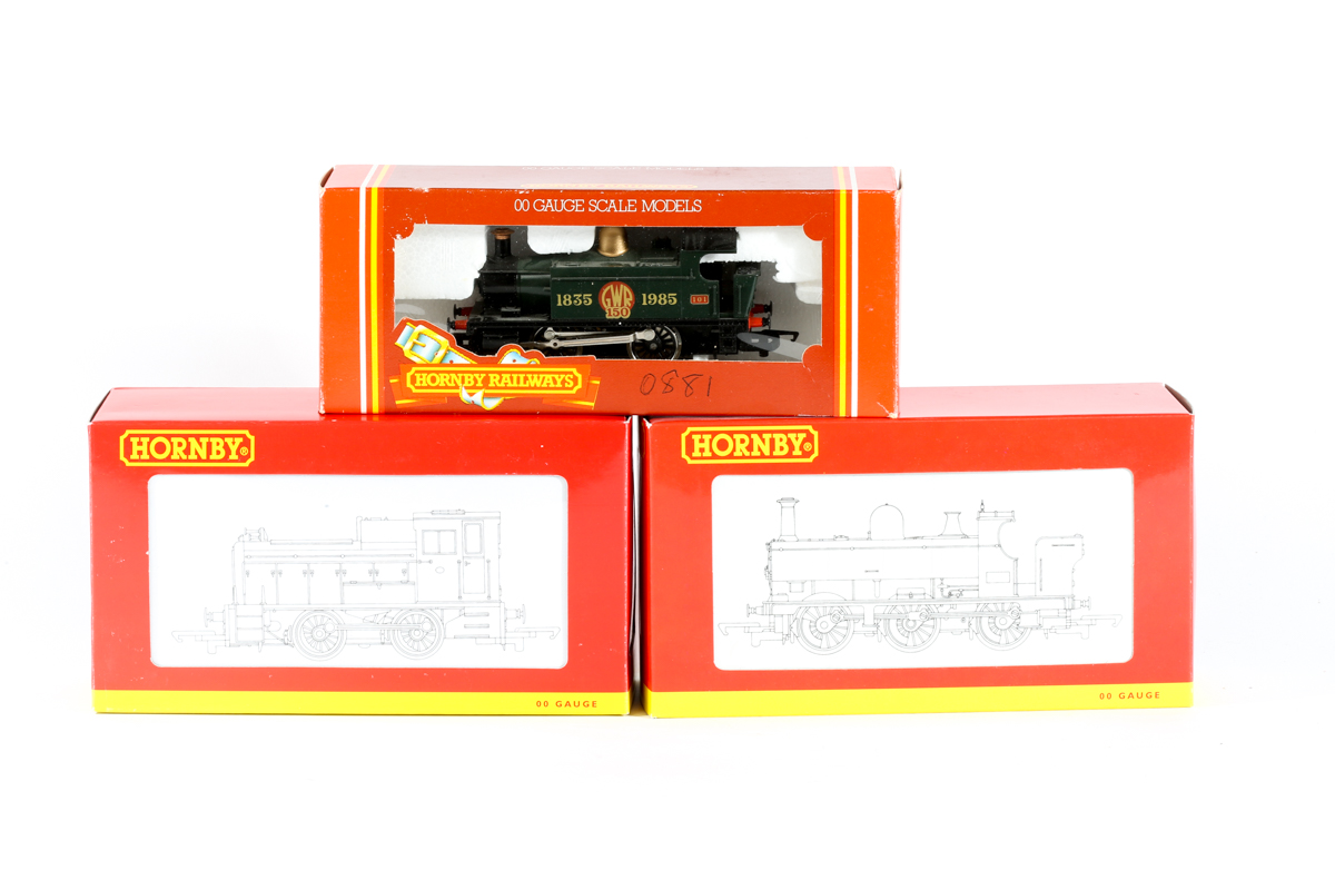Lot 39 - 3 Hornby Railway locomotives. A special issue GWR '150' (1835-1985) 0-4-0 tank locomotive R173 in