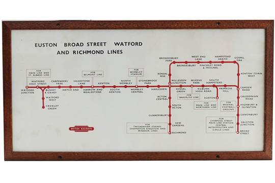 Carriage Print British Railways 'Euston Broad Street Watford ... on oregon map, philadelphia map, norristown high speed line map, 110 freeway map, washington metro map, red line map, canal street line map, dc metro line map, mrt line map, delaware river map, barcelona metro map, bart line map, atlantic coast line map, pennsylvania railroad map, san francisco muni map, la metro line map, new orleans streetcar map, london heathrow airport map,