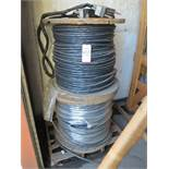 LOT - (4) SPOOLS OF HIGH VOLTAGE ELECTRIC CABLE