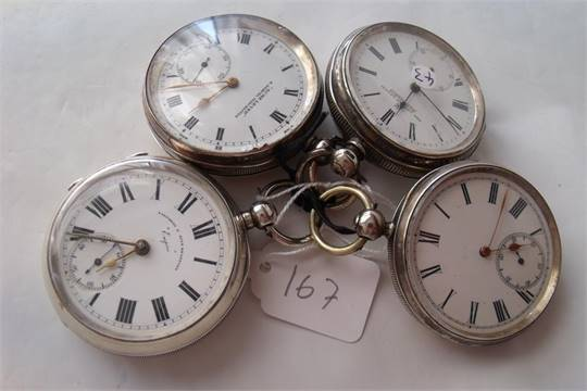 silver cased acme lever pocket also 3 others