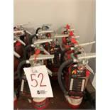 Assorted fire extinguishers, 10pcs