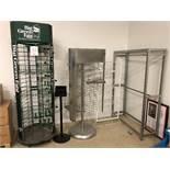 LOT: Assorted display racks, 4pcs