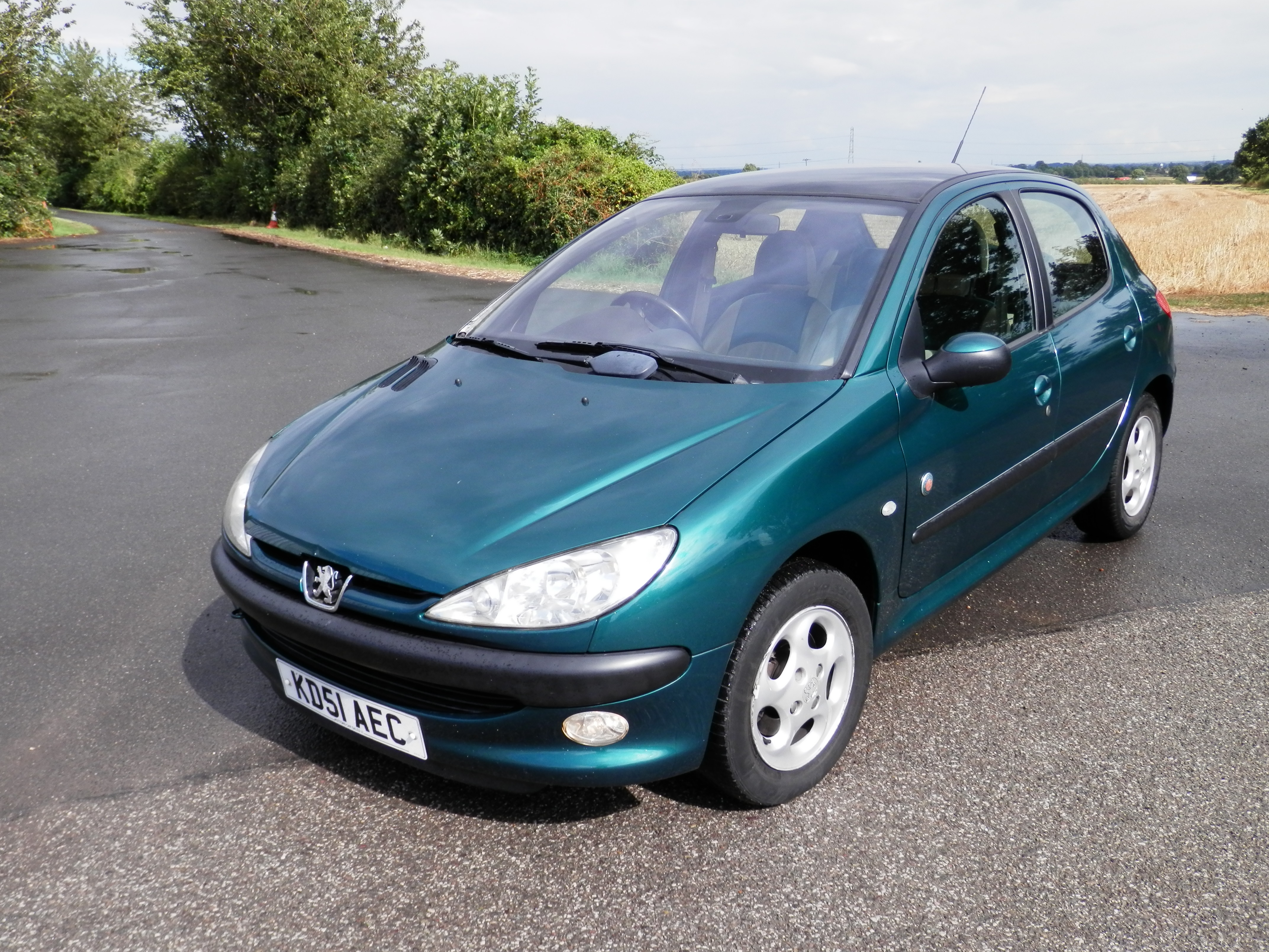 rare 2001 51 reg 5dr peugeot 206 roland garros 1 6 petrol full leather climate panoramic roof. Black Bedroom Furniture Sets. Home Design Ideas