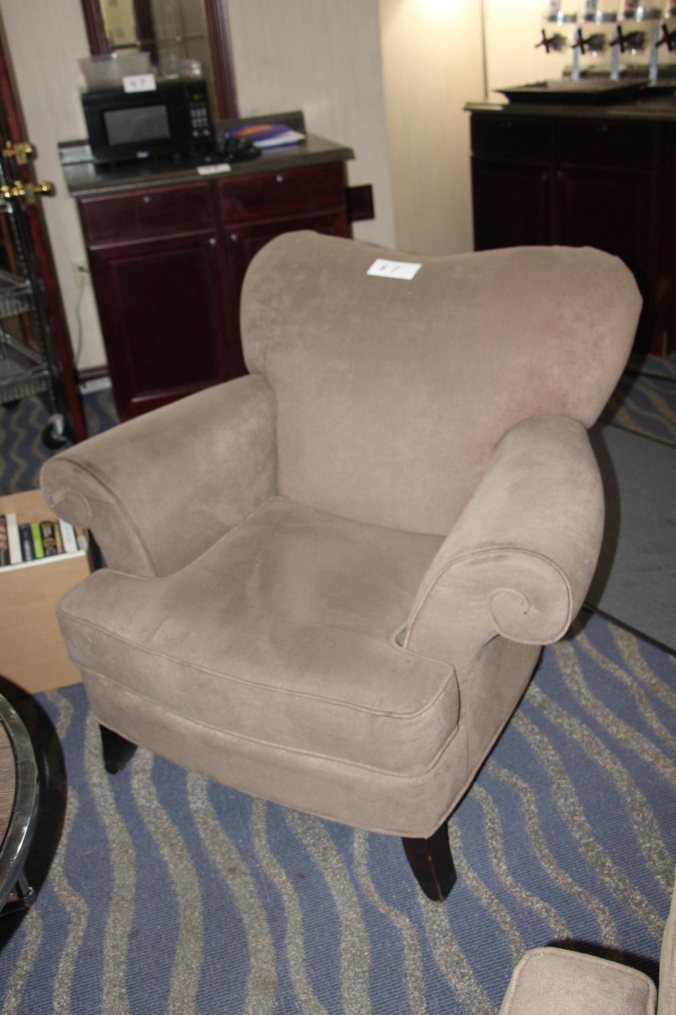 Lot 61 - Fabric accent armchair