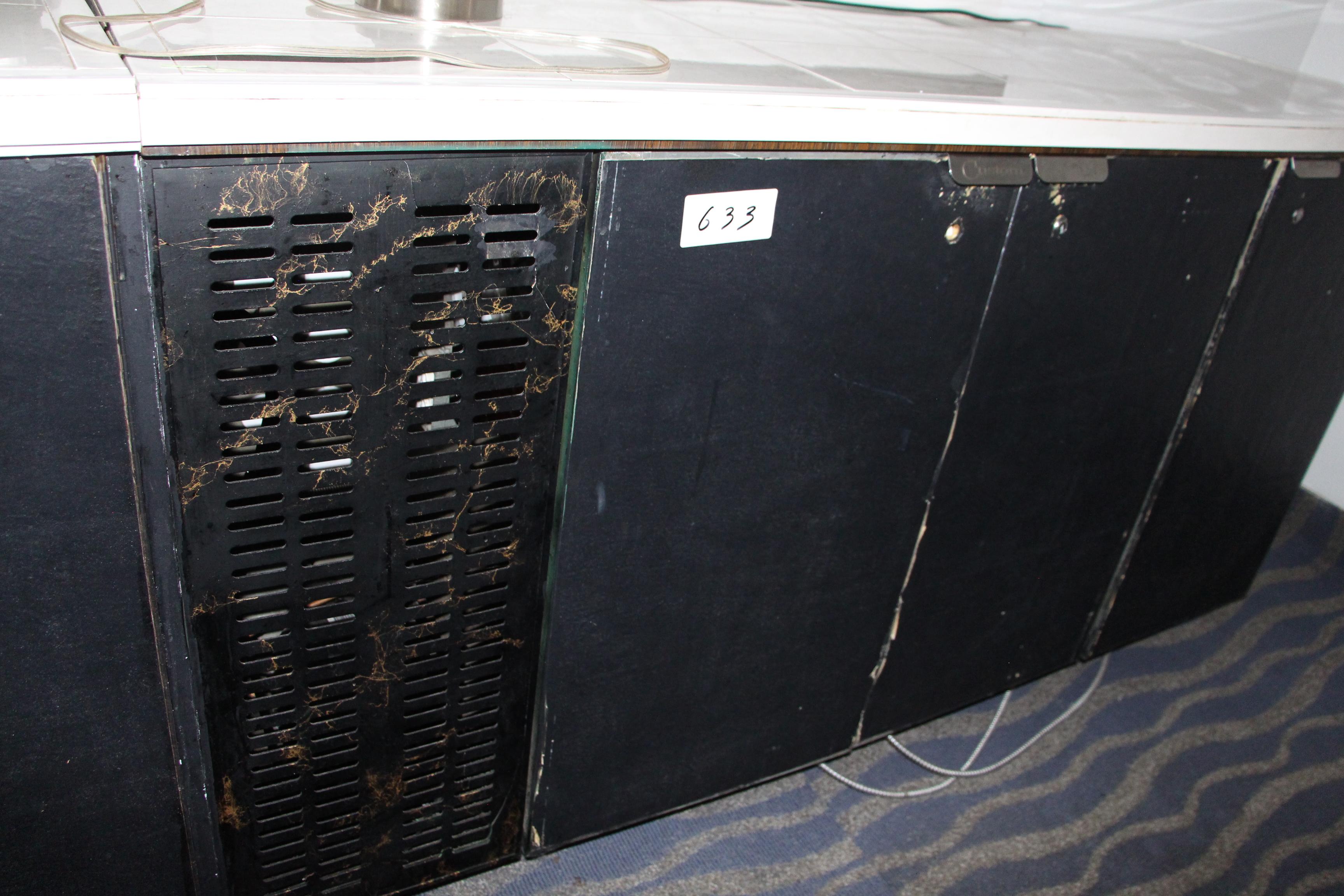 Lot 633 - 3 Door undercounter cooler