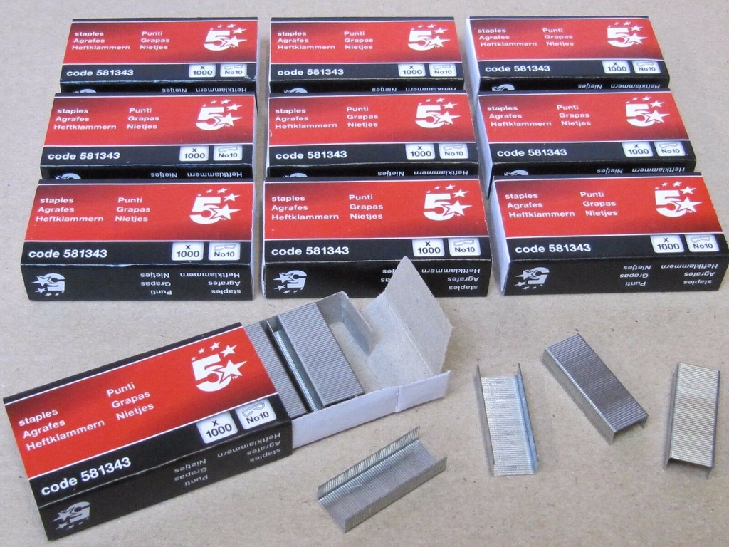 200 x Boxes Of Staples. Size No. 10