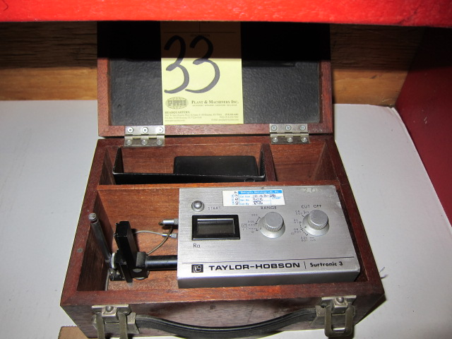 Lot 33 - ROUGHNESS GAUGE, TAYLOR-HOBSON MDL. SURTRONIC 3
