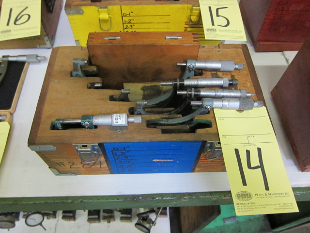 Lot 14 - O.D. MICROMETER SET (5 pcs.)