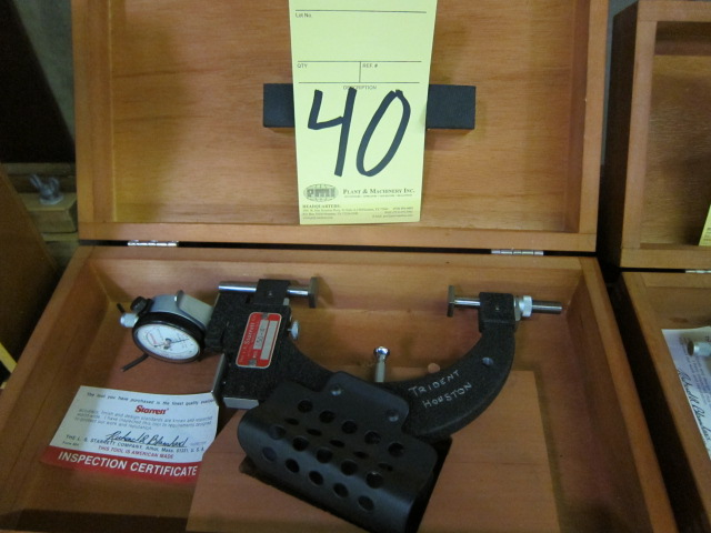 "Lot 40 - SNAP GAUGE, STARRETT 4"" MDL. 1150"