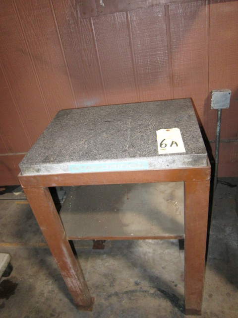 "Lot 6A - GRANITE SURFACE PLATE, STANDRIDGE, 24"" x 18"" x 3"" thk., w/stand"