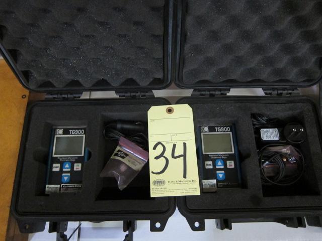 Lot 34 - LOT OF PRECISION ULTRASONIC THICKNESS GAUGES (2), NOVA MDL. TG900
