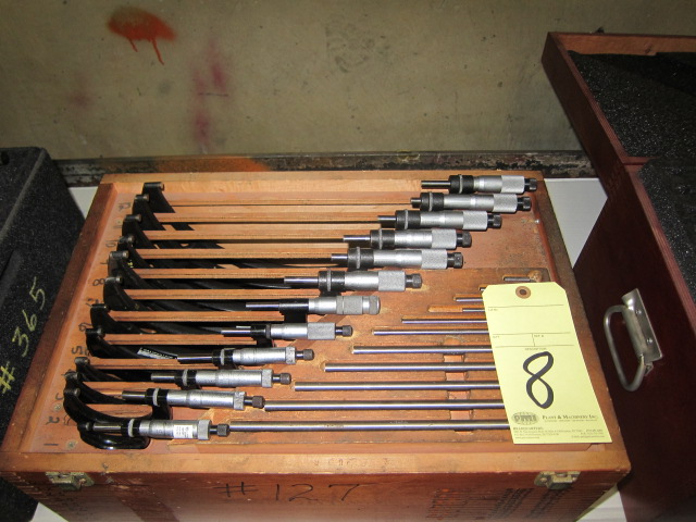 "Lot 8 - O.D. MICROMETER SET, STARRETT, 0 to 12"" (12 pcs.)"