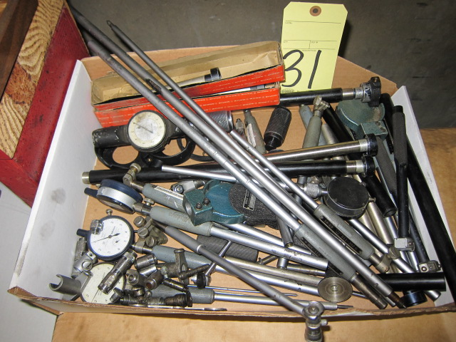 Lot 31 - LOT OF DIAL BORE GAUGE PARTS, assorted (in one box)