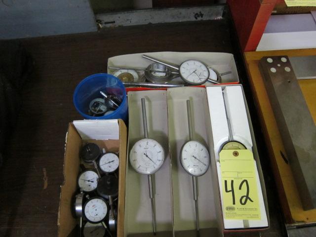 Lot 42 - LOT CONSISTING OF: dial indicators & parts