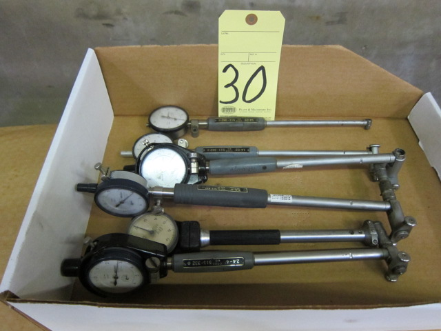 Lot 30 - LOT OF DIAL BORE GAUGES (6), MITUTOYO, assorted