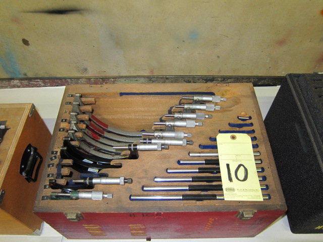 Lot 10 - O.D. MICROMETER SET (9 pcs.)