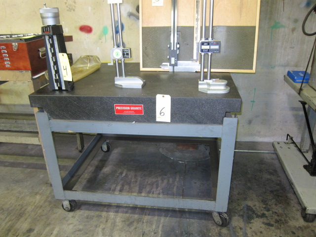 "Lot 6 - PRECISION GRANITE SURFACE PLATE, new 2008, 36"" x 48"" x 6"" thk., 2-ledge design, heavy fabricated"