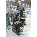 """1.5HP BRIDGEPORT VERTICAL MILL; S/N 157351, 9"""" X 42"""" TABLE, SPINDLE SPEED 60-4200 RPM"""