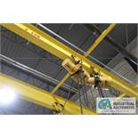 1-TON BUDGIT ELECTRIC TROLLEY TYPE CHAIN HOIST WITH PENDANT