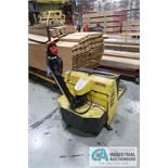 4,500 LB MULTITON MODEL 4520X36 ELECTRIC PALLET TRUCK; S/N 0308422169, 24 VOLT