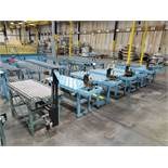 4' X 2' ROLLERBALL CONVEYOR TABLES, (5) WITH BOSTITCH PNEUMATIC STAPLES