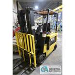 """5,000 LB HYSTER MODEL E50XL-33 ELECTRIC SOLID TIRE LIFT TRUCK; S/N C108V17661N, 3-STAGE MAST, 81"""""""