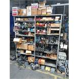 (LOT) REMAINING CONTENTS OF MAINTENANCE ROOM INCLUDING MOTORS, ELECTRICAL, MACHINE PARTS, VALVES,