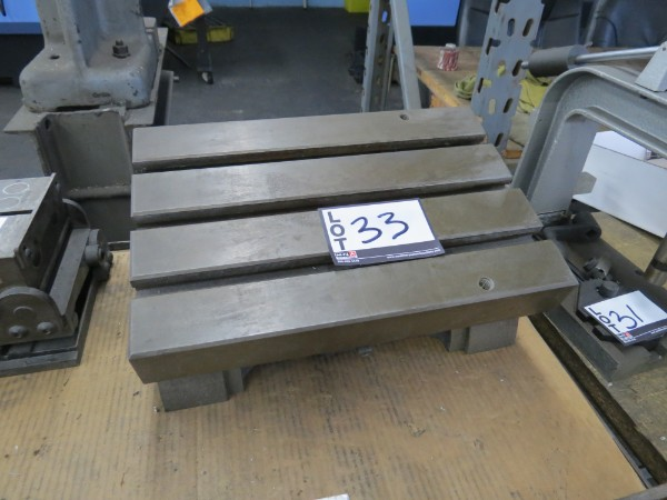 Lot 33 - T Slotted Table