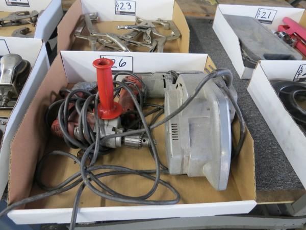 Lot 26 - Drill Sanders W/ Sander